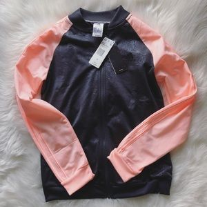 Adidas S Embossed Floral Full-Zip Climalite Jacket